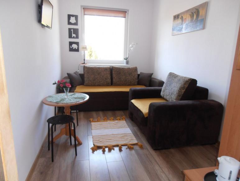 Pokój nr 4 - sofa ( 160 cm szer,) oraz fotel rozkładany