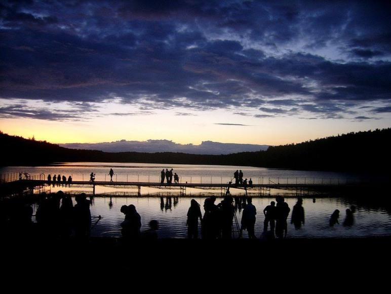 Zachód słońca nad naszym jeziorkiem