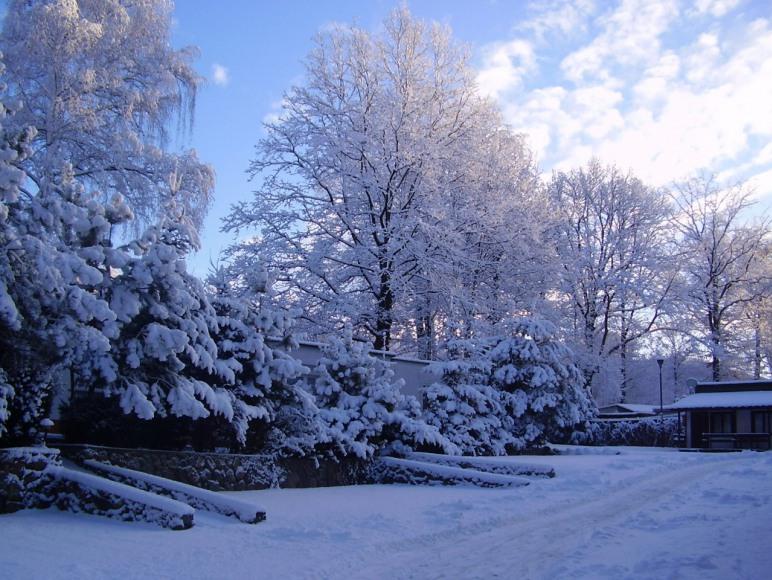 Widok zimowy na Ośrodku