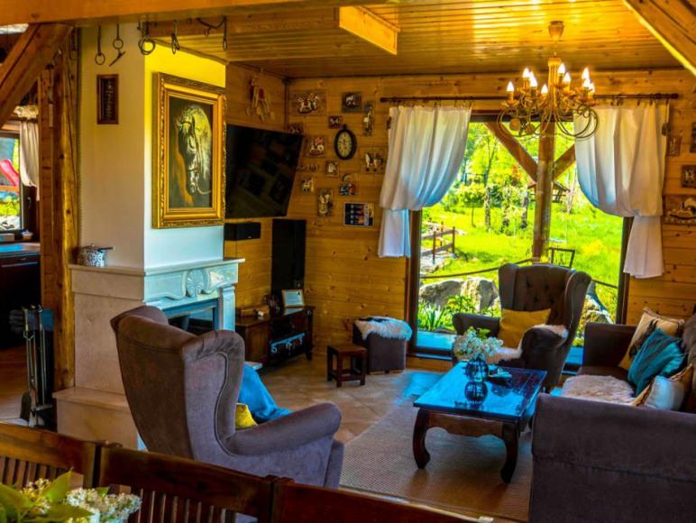 Piaskowy Koń-Dom 8os,Basen podgrzewany,Sauna,Balia
