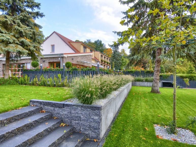 Widok z ogrodu