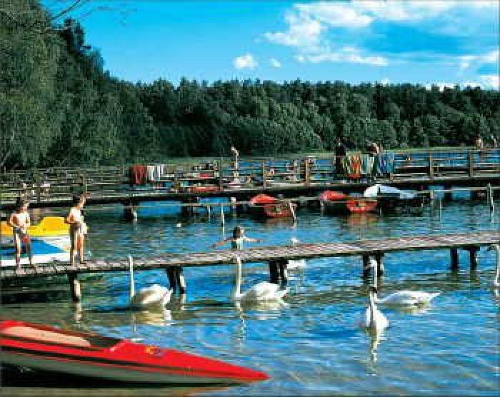 Jezioro Gim, plaża
