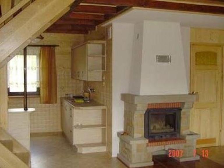 kominek w domku