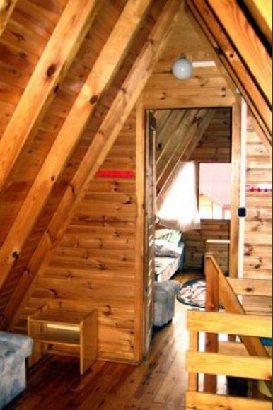 Sypialnie w domku Brda