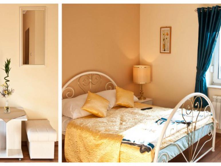 Pokój z łóżkiem małżeńskim