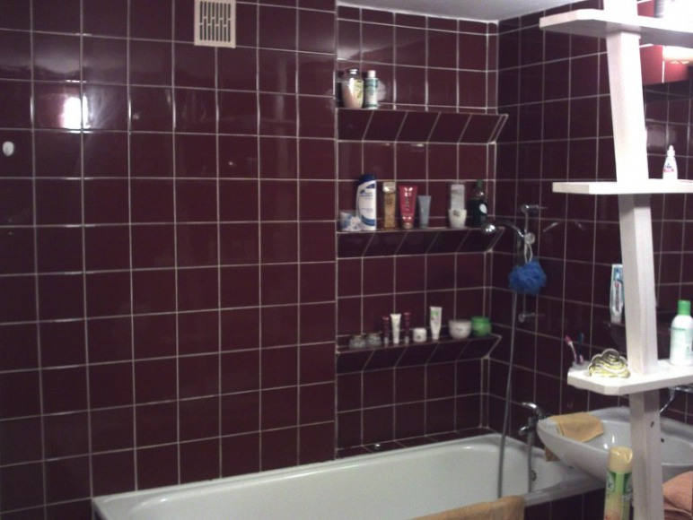 łazienka brązowa