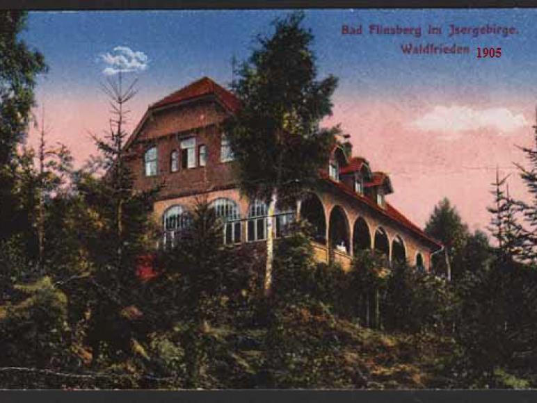 Leśny Gród widok z 1905r