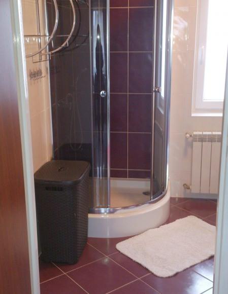 Łazienka z prysznicem / dom B w Rybicalu