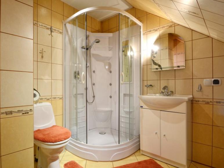 Łazienka apart.pomarańczowy