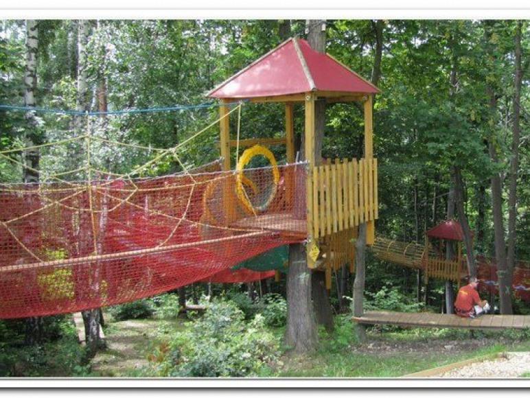 Park linowy dla dzieci pod Górą Żar