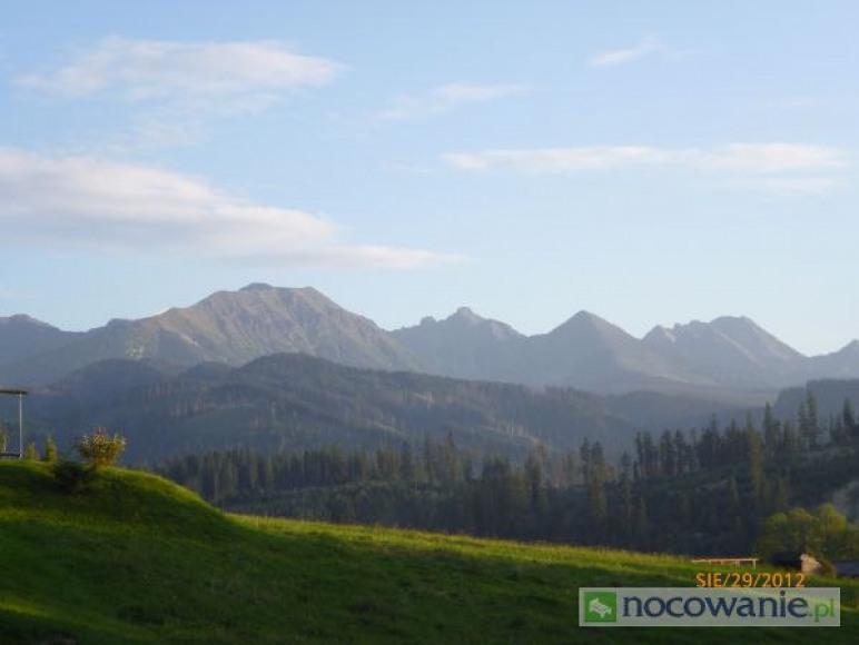 widok na góry z niektórych pokoi