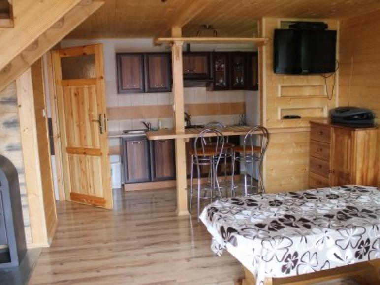 Salon w dużym domku