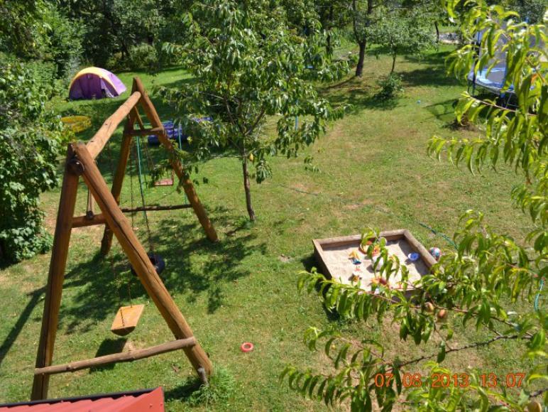 Ogród widziany z okna pokoju