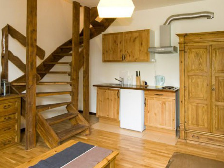 Apartament z aneskem kuchennym - pokój dzienny