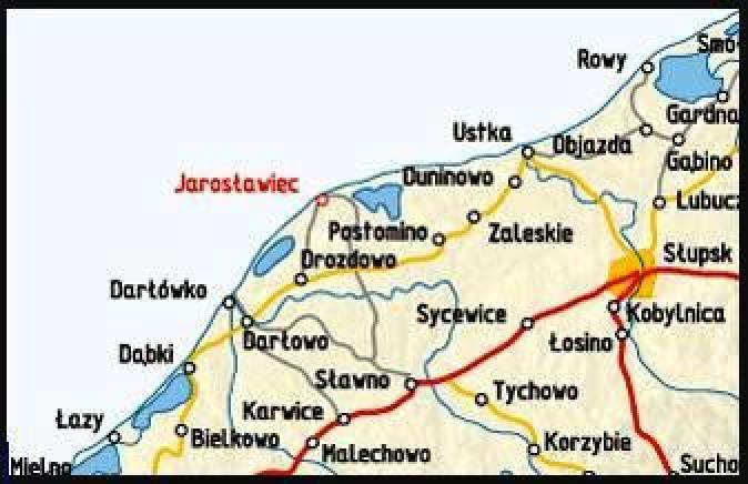 Jarosławiec MAPA
