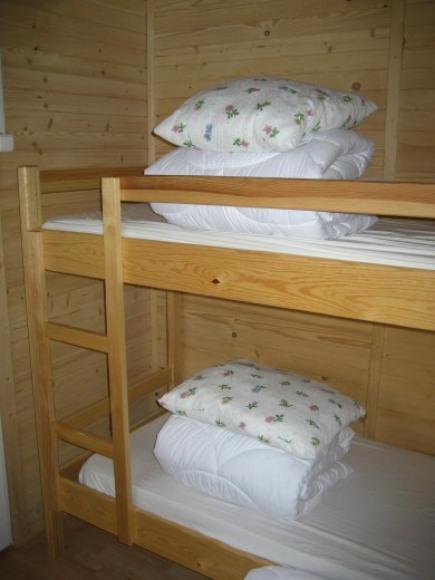 sypialnia w domku 3-pokojowym