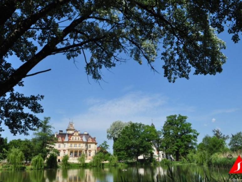 Pałac Makowice - zdjęcie od strony stawu