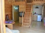 Domek drewniany - wnętrze