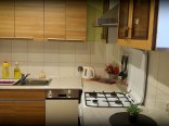 kuchnia ze zmywarką, odówką, kuchenką, piekarnikiem itp.,