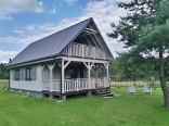 Domek Drewniany Mazury Piece jezioro Sasek Wielki