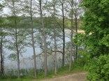 Widok na jezioro z działki.