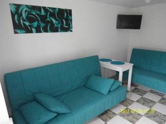 Mieszkanie dwupokojowe z łazienką 6 osób-turkusowe