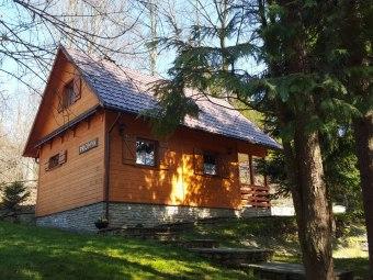 Domek drewniany z kominkiem Promyk,Apartament