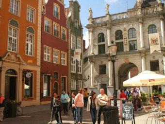 Starówka Złota Brama Stare Miasto Długa centrum