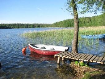 "domek nad jeziorem ""na skarpie"""
