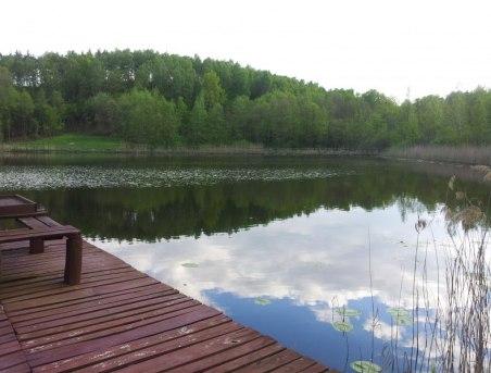 Prawa strona naszego Jeziorka zwanego Czrcim Okiem w otoczenia łak i lasów