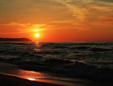 Zachód słońca w Chłapowie