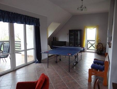 Willa Chabrowa- Apartament A góra- stół pingpongowy do dyspozycji Gości