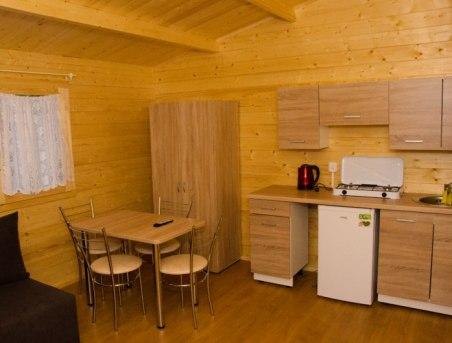 salon domku drewnianego