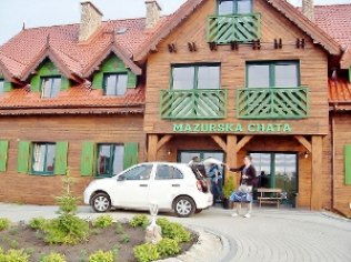 """Bankiety firmowe - """"Mazurska Chata"""", 480 m od aquaparku"""