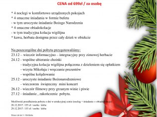 Pakiet Boże Narodzenie w Polaris w Szczawnicy