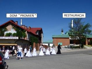 Noclegi Kraków na zdjęciu nasz Dom Promień oraz Restauracja