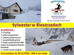 Sylwester w Bieszczadach - Dom Kowala