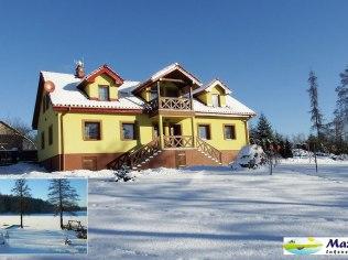 Dom nad jeziorem na 24 osoby lub apartamenty - Mazurski Raj - Luksusowy dom i apartamenty 110m2