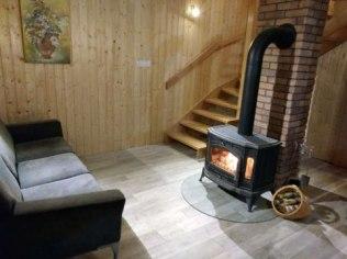 ferie narty łyżwy - Domek na Kaszubach kominek sauna