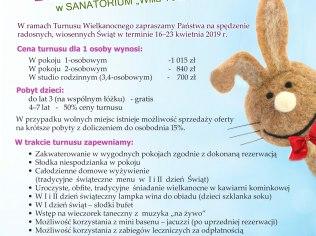"Wielkanoc 2019 - Sanatorium ""Willa York"""