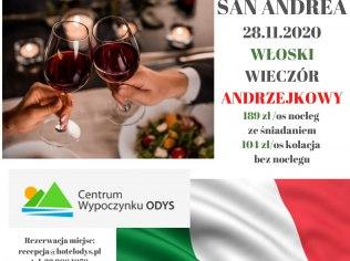Włoski wieczór Andrzejkowy - Centrum Wypoczynku Odys-Twoja bezpieczna przystań
