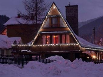 Dom w Szczyrku zimą