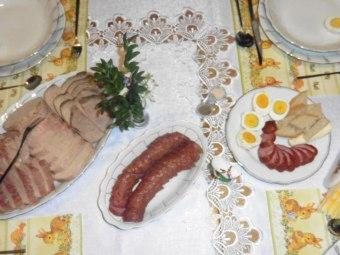 Wielkanoc, śniadanie - wyroby własne