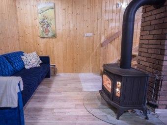 Domki na Kaszubach kominek sauna beczka jacuzzi