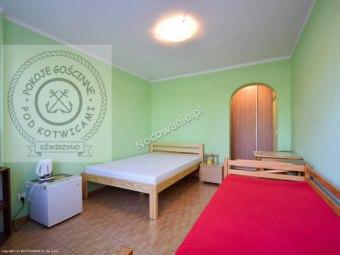 Pokój 3 lub 4 osobowy z łazienką, na parterze - strona zachodnia